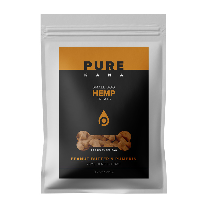 Hemp Dog Treats (Small Bag) – PEANUT BUTTER & PUMPKIN