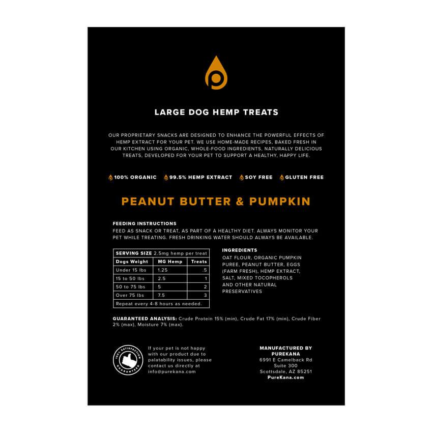 Hemp Dog Treats (Large Dog) – Peanut Butter & Pumpkin