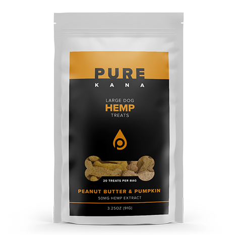 PEANUT BUTTER & PUMPKIN LARGE DOG HEMP TREATS