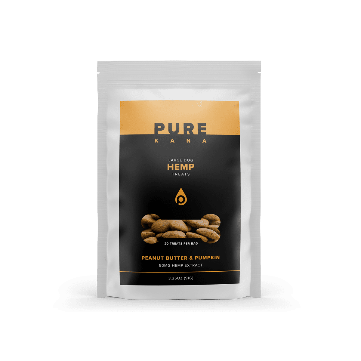 Hemp Dog Treats (Large Dog) – Peanut Butter & Pumpkin