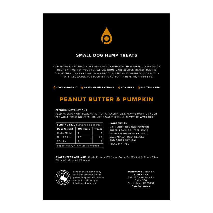 peanut butter pumpkin small dog treats