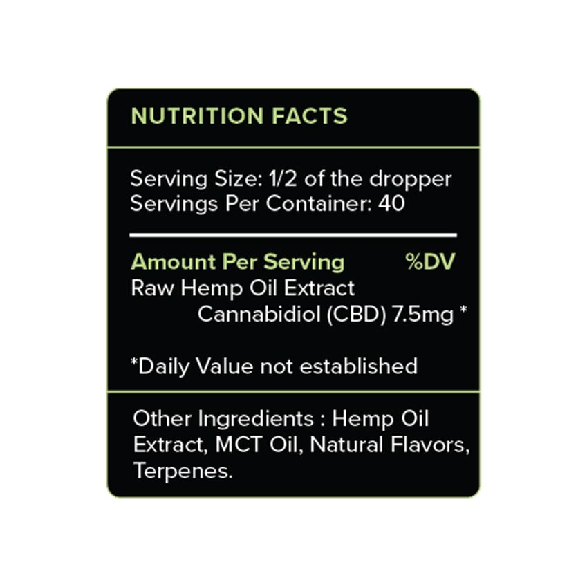 PureKana Mint CBD Oil Label 300mg
