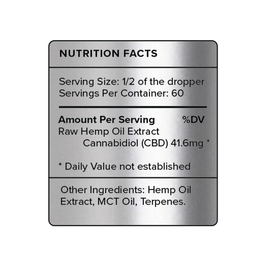 Natural CBD Oil 2500mg