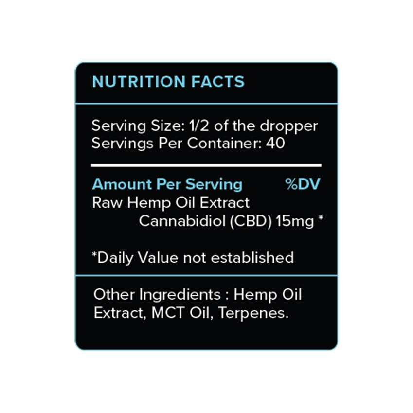 PureKana Natural CBD Oil Label 600mg