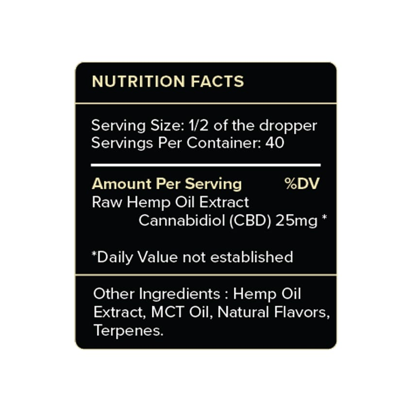 PureKana Vanilla CBD Oil Label 1000mg