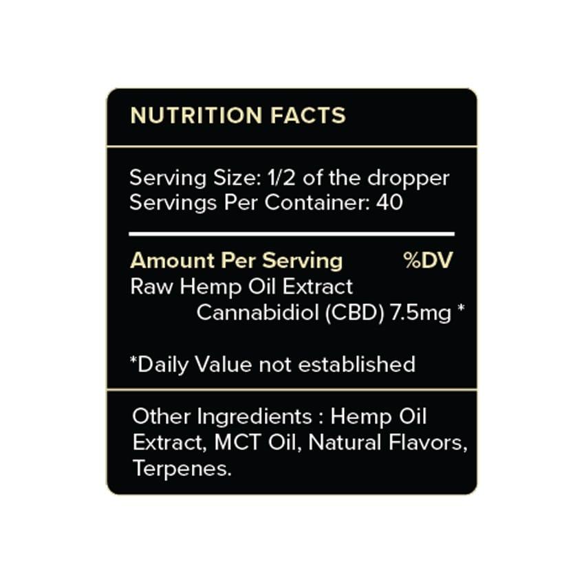 PureKana Vanilla CBD Oil Label 300mg