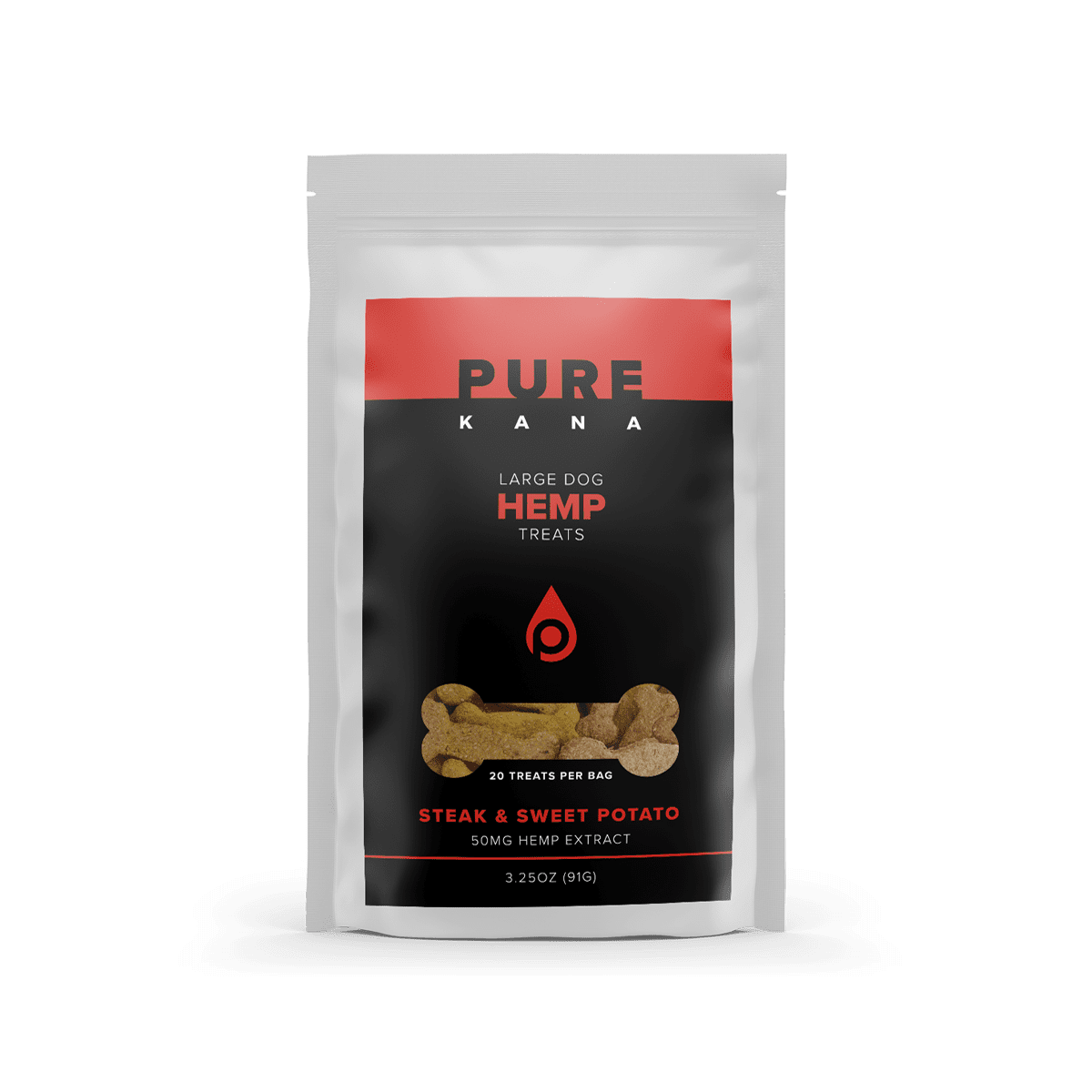 Hemp Dog Treats (Large Dog) – Steak & Sweet Potato