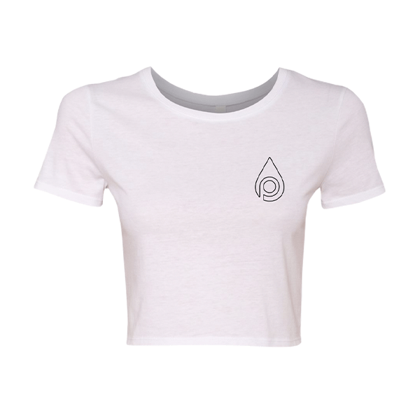 Core Logo Crop Tee (White)