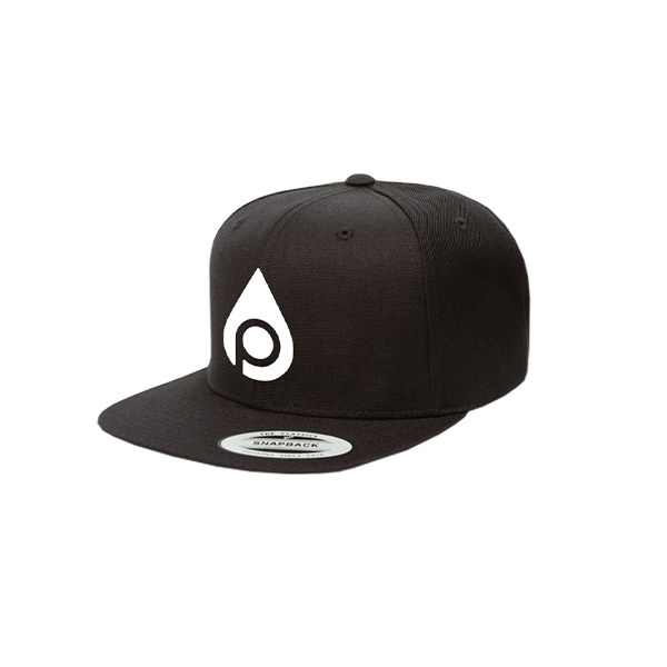Snapback Cap (Black/White)