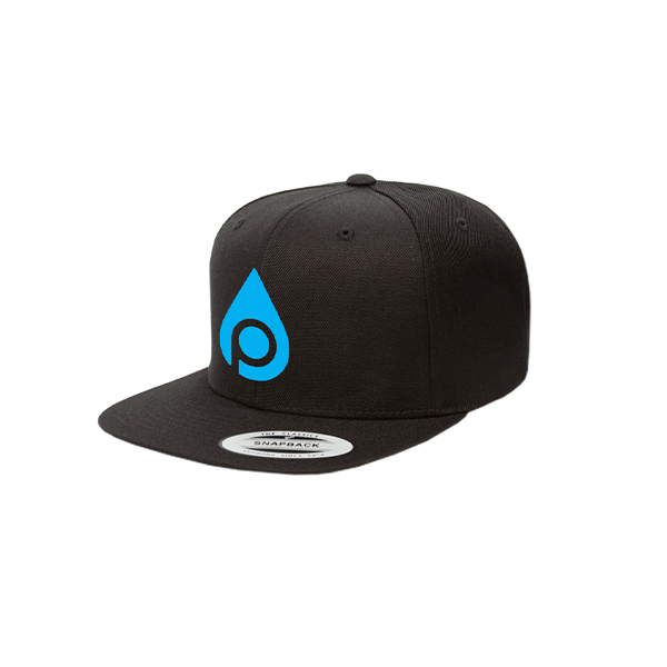 Snapback Cap (Black/Blue)