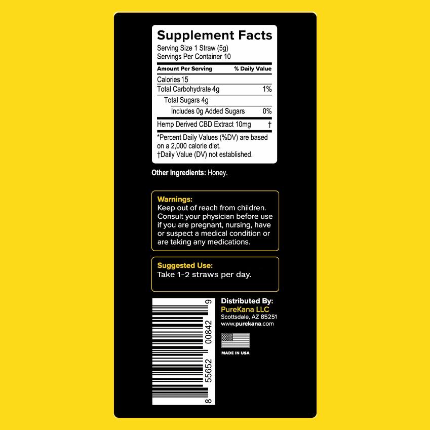 honey straw label