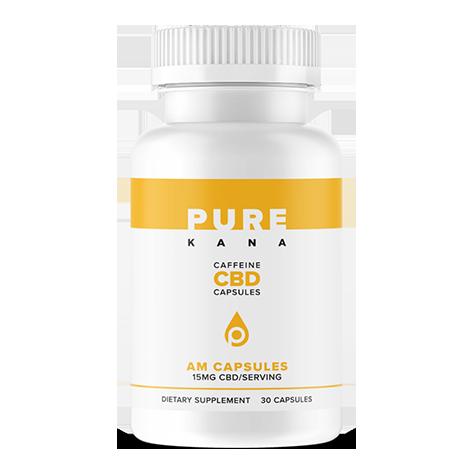 AM CBD Capsules (15mg w/ Caffeine)
